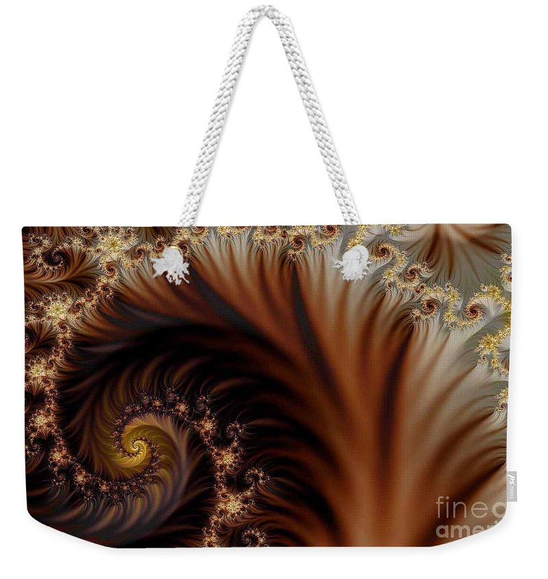 Clay Weekender Tote Bag featuring the digital art Gold In Them Hills by Clayton Bruster