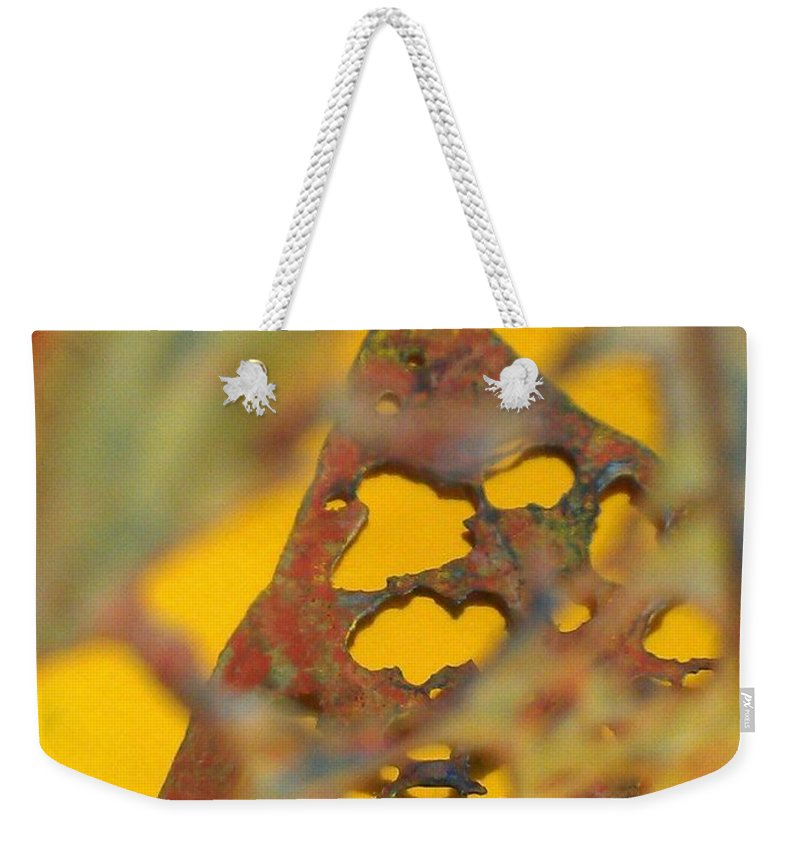 Gold Weekender Tote Bag featuring the photograph Gold Leaf 3 by Jennifer Bright