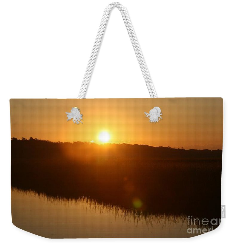 Glow Weekender Tote Bag featuring the photograph Gold Morning by Nadine Rippelmeyer