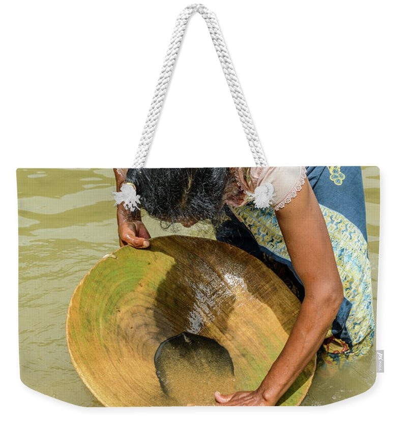 People Weekender Tote Bag featuring the photograph Gold Panning by Werner Padarin
