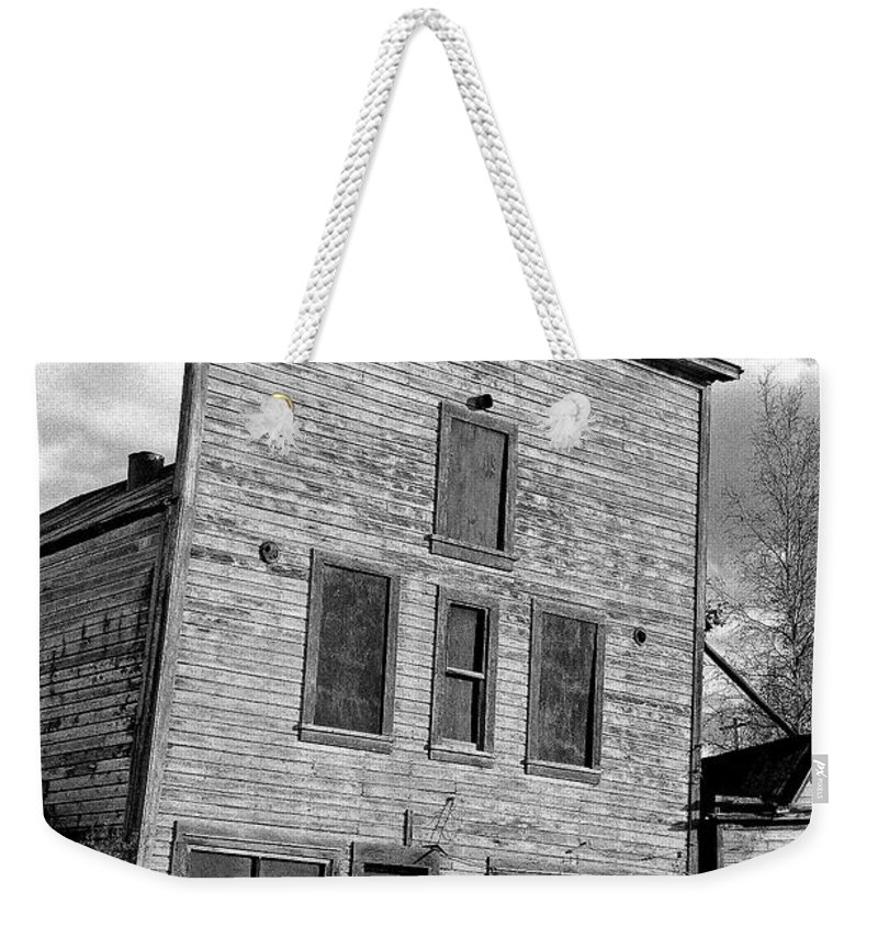 Gold Weekender Tote Bag featuring the photograph Gold Rush Saloon - Dawson City by Juergen Weiss