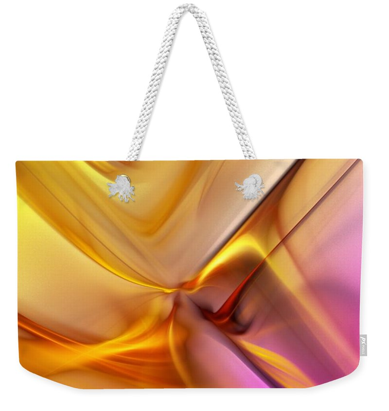 Fine Art Weekender Tote Bag featuring the digital art Golden Abstract 042711 by David Lane