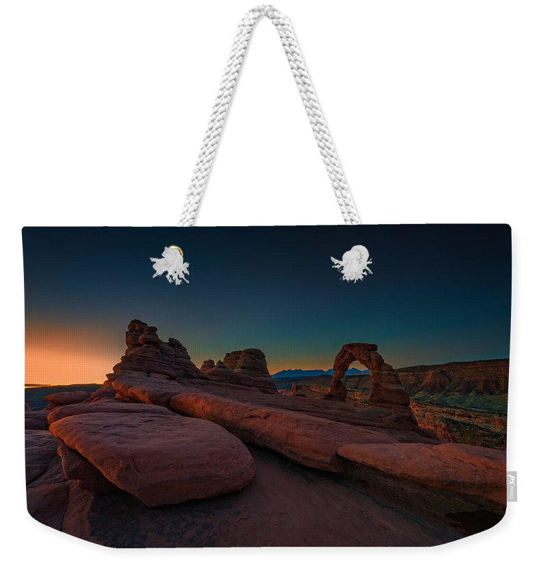 Delicate Arch Weekender Tote Bag featuring the photograph Golden Arch by Rick Berk