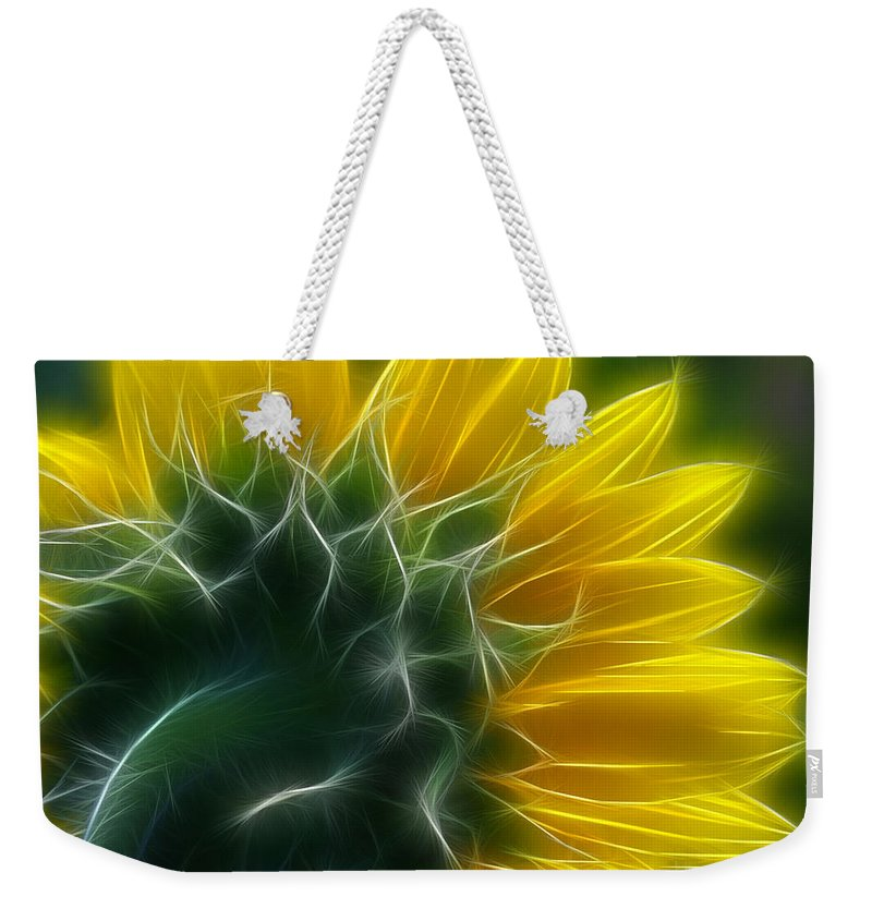 Fractalius Weekender Tote Bag featuring the photograph Golden Delight by Deborah Benoit