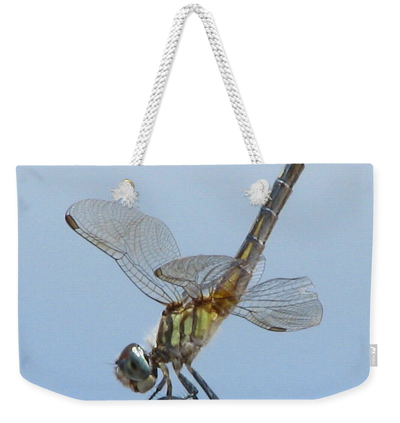 Patzer Weekender Tote Bag featuring the photograph Golden Dragon by Greg Patzer