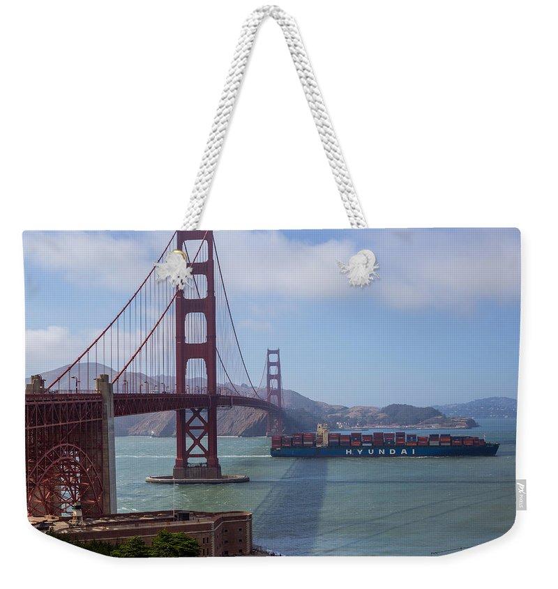 Golden Gate Bridge Weekender Tote Bag featuring the photograph Golden Gate Bridge by Ashlyn Gehrett