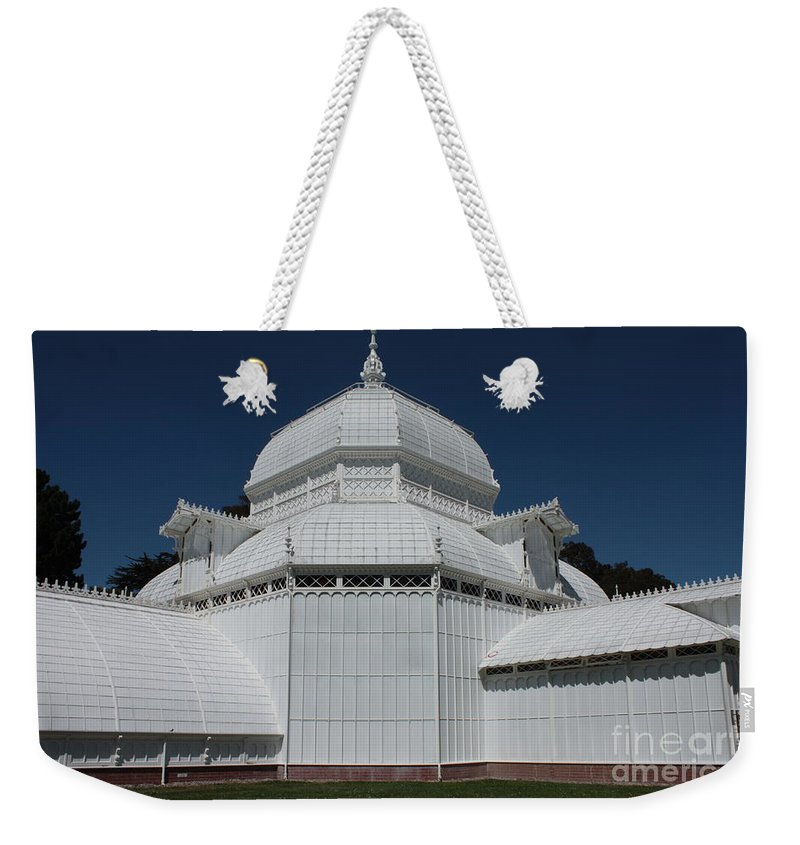 White Weekender Tote Bag featuring the photograph Golden Gate Conservatory by Carol Groenen