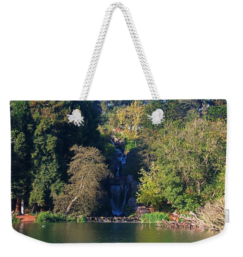 Waterfall Weekender Tote Bag featuring the photograph Golden Gate Park by Michiale Schneider