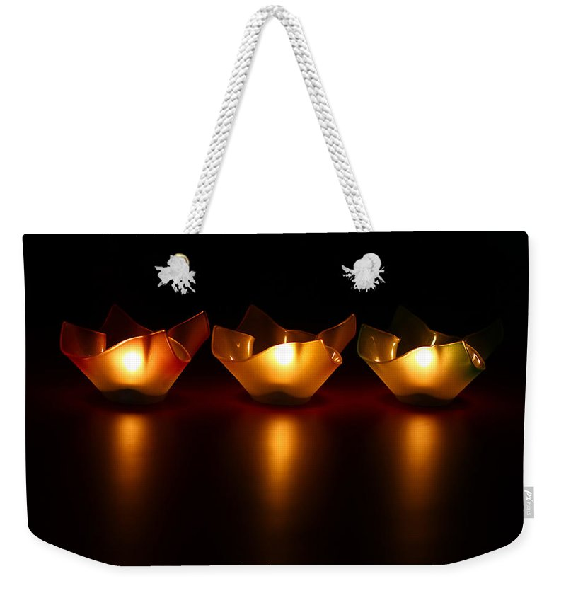 Blur Weekender Tote Bag featuring the photograph Golden Glow by Evelina Kremsdorf