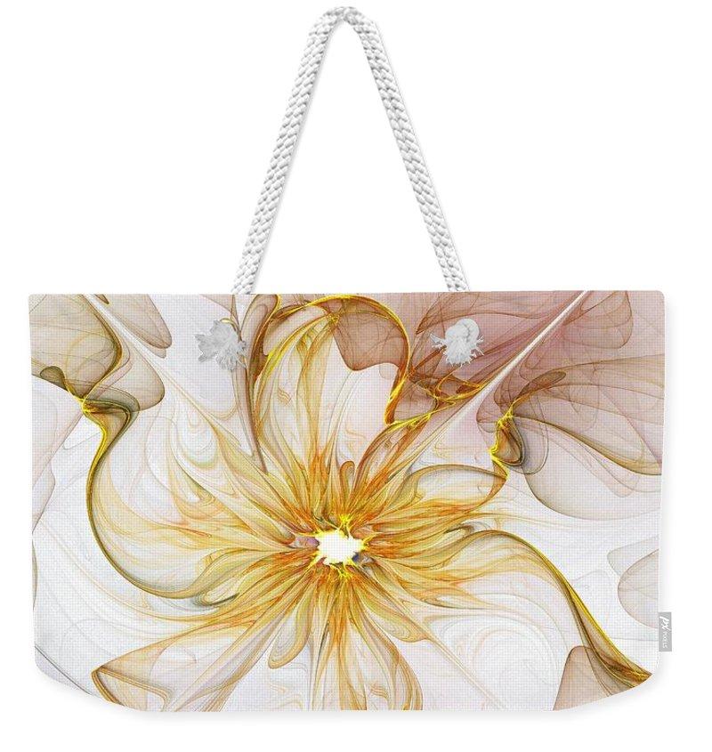 Digital Art Weekender Tote Bag featuring the digital art Golden Glow by Amanda Moore