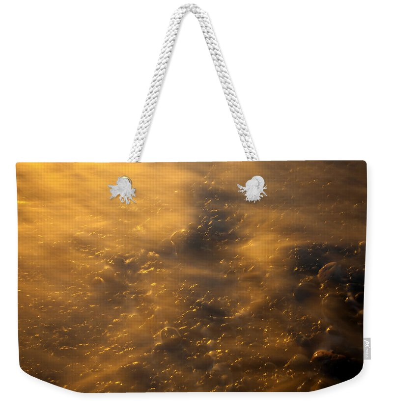 Tides Weekender Tote Bag featuring the photograph Golden Light by Mike Dawson