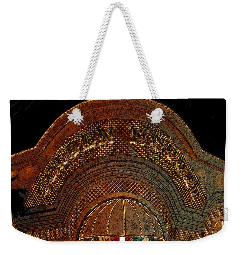 Art Weekender Tote Bag featuring the painting Golden Nugget by David Lee Thompson