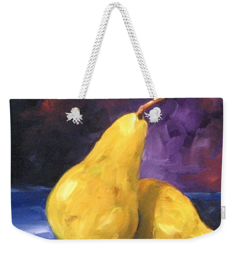 Art Weekender Tote Bag featuring the painting Golden Pears by Richard T Pranke