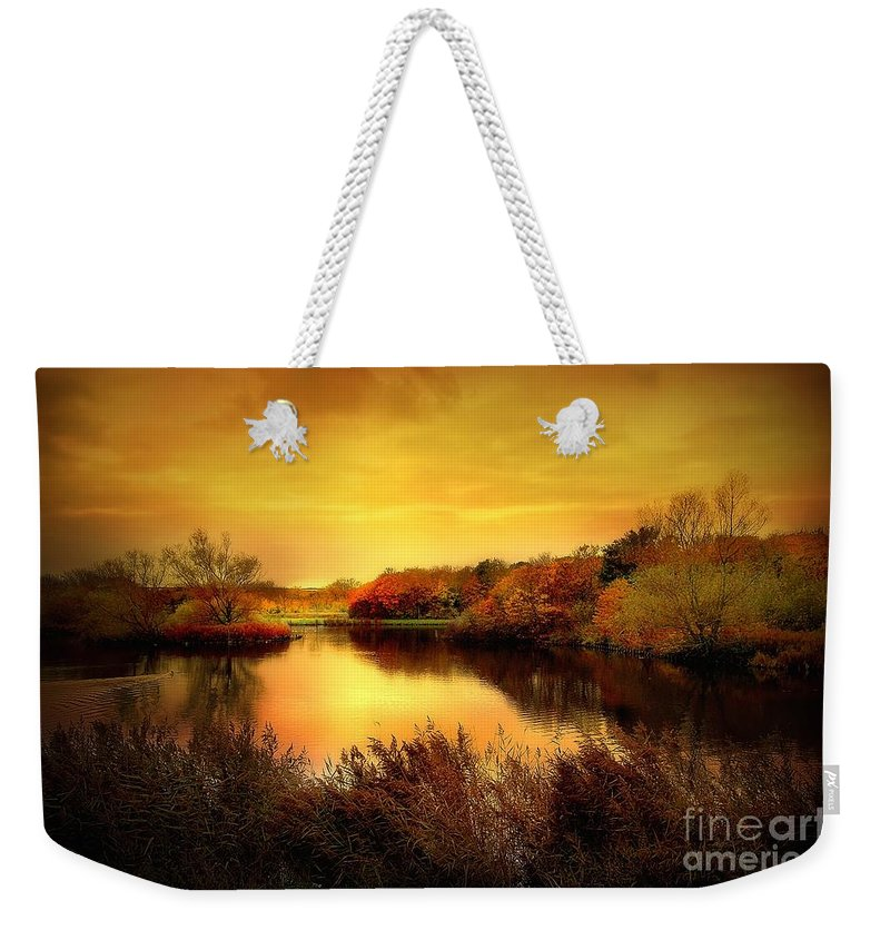 Pond Weekender Tote Bag featuring the photograph Golden Pond by Jacky Gerritsen