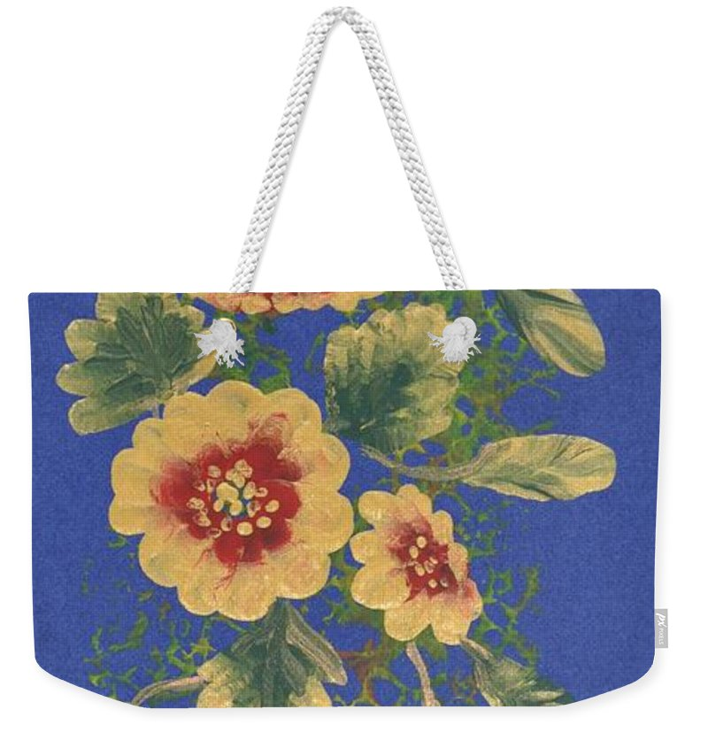 Decorations Weekender Tote Bag featuring the painting Golden Radiance by Georgeta Blanaru