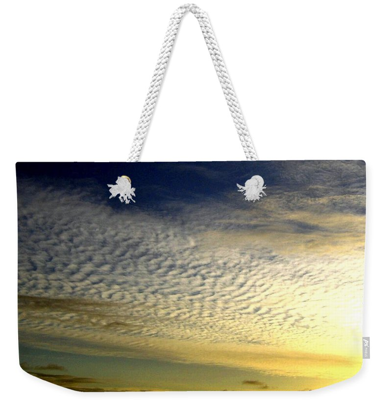 Sunset Weekender Tote Bag featuring the photograph Golden Sunset by Will Borden