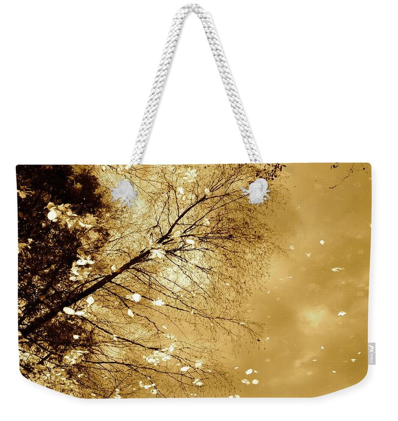 Autumn Weekender Tote Bag featuring the photograph Golden Tones by Corinne Rhode