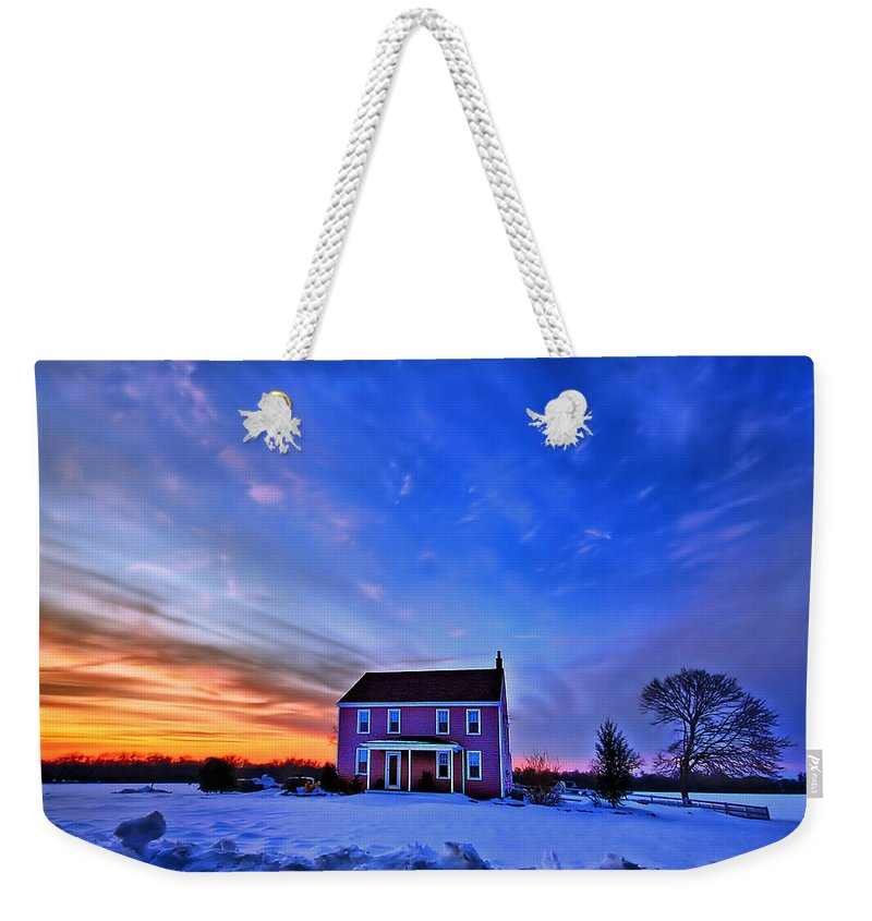 Cloud Weekender Tote Bag featuring the photograph Golden Touch by Evelina Kremsdorf