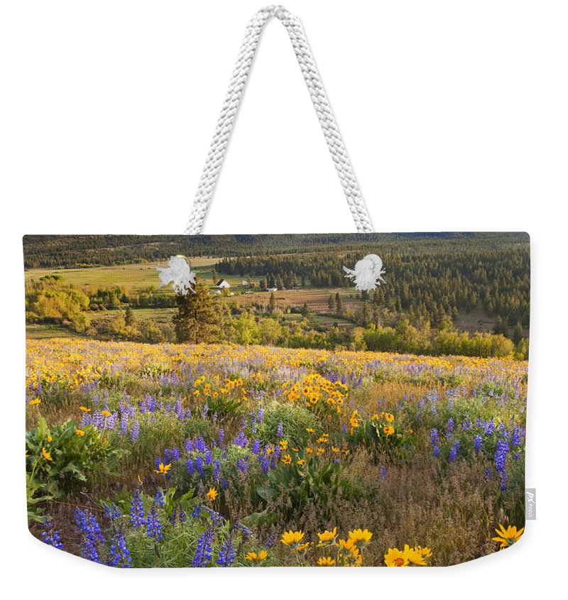 Wildflowers Weekender Tote Bag featuring the photograph Golden Valley by Mike Dawson