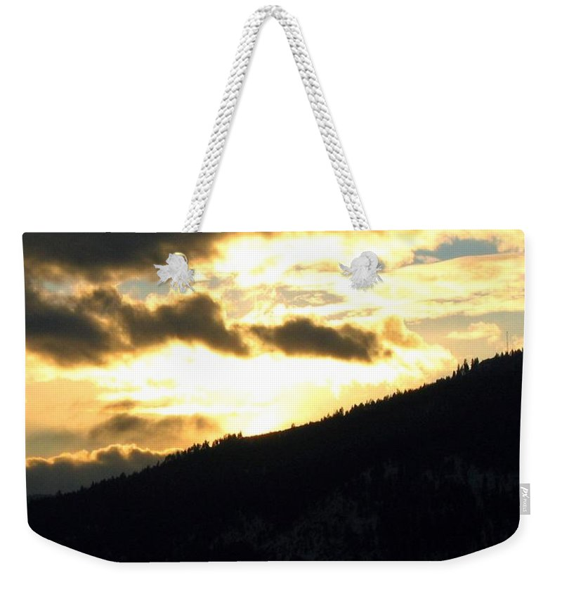 Sunset Weekender Tote Bag featuring the photograph Golden Waters by Will Borden
