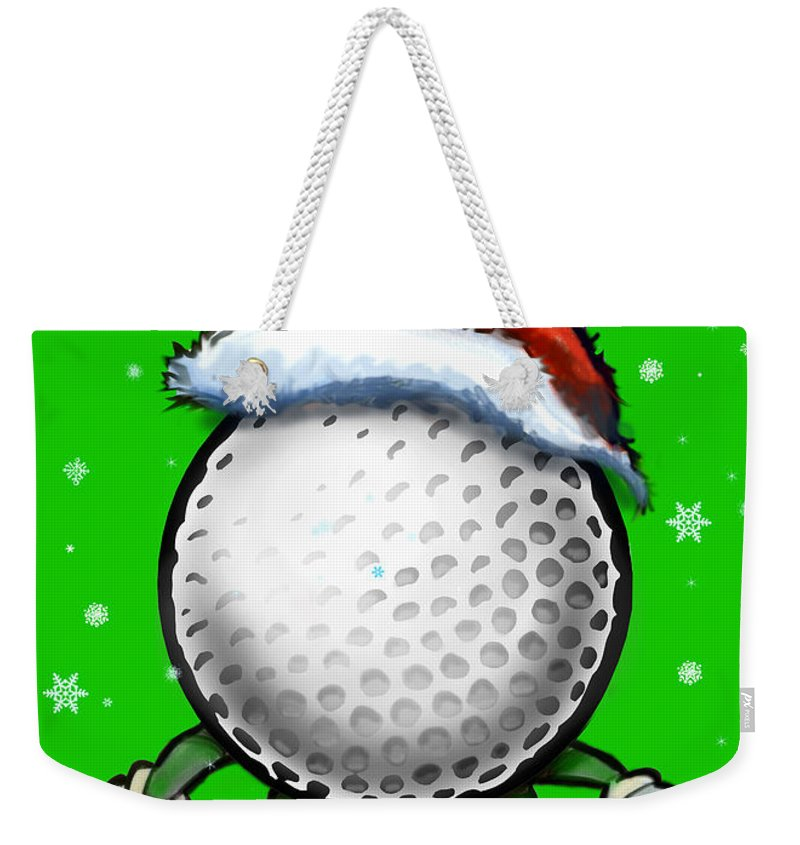 Golf Weekender Tote Bag featuring the digital art Golf Christmas by Kevin Middleton