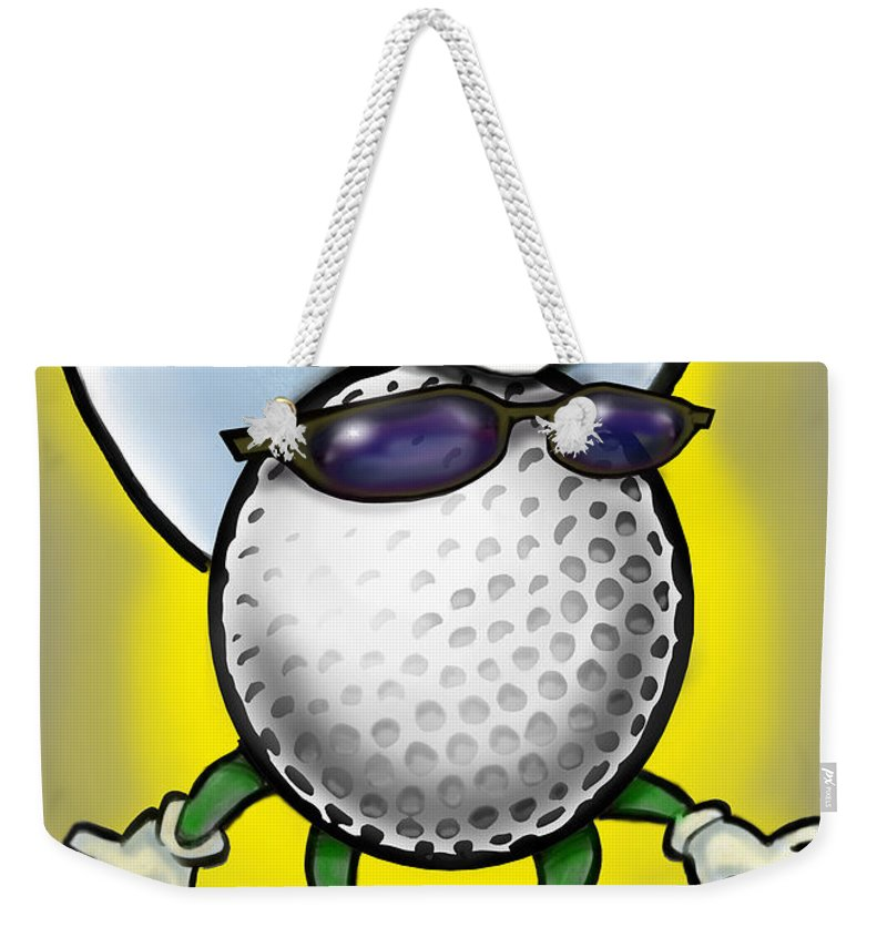 Golf Weekender Tote Bag featuring the digital art Golf Cowboy by Kevin Middleton