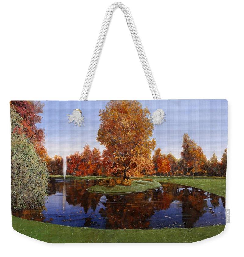 Golf Course Weekender Tote Bag featuring the painting Golf Cherasco by Guido Borelli