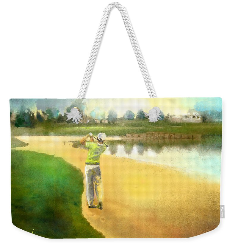Golf Weekender Tote Bag featuring the painting Golf In Club Fontana Austria 02 by Miki De Goodaboom