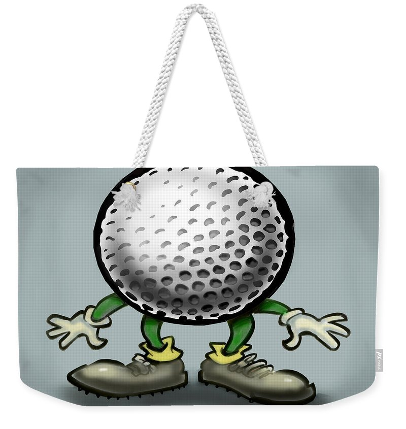 Golf Weekender Tote Bag featuring the greeting card Golf by Kevin Middleton