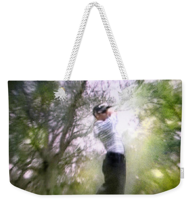 Golf Weekender Tote Bag featuring the painting Golf Trophee Hassan II In Royal Golf Dar Es Salam Morocco 05 by Miki De Goodaboom