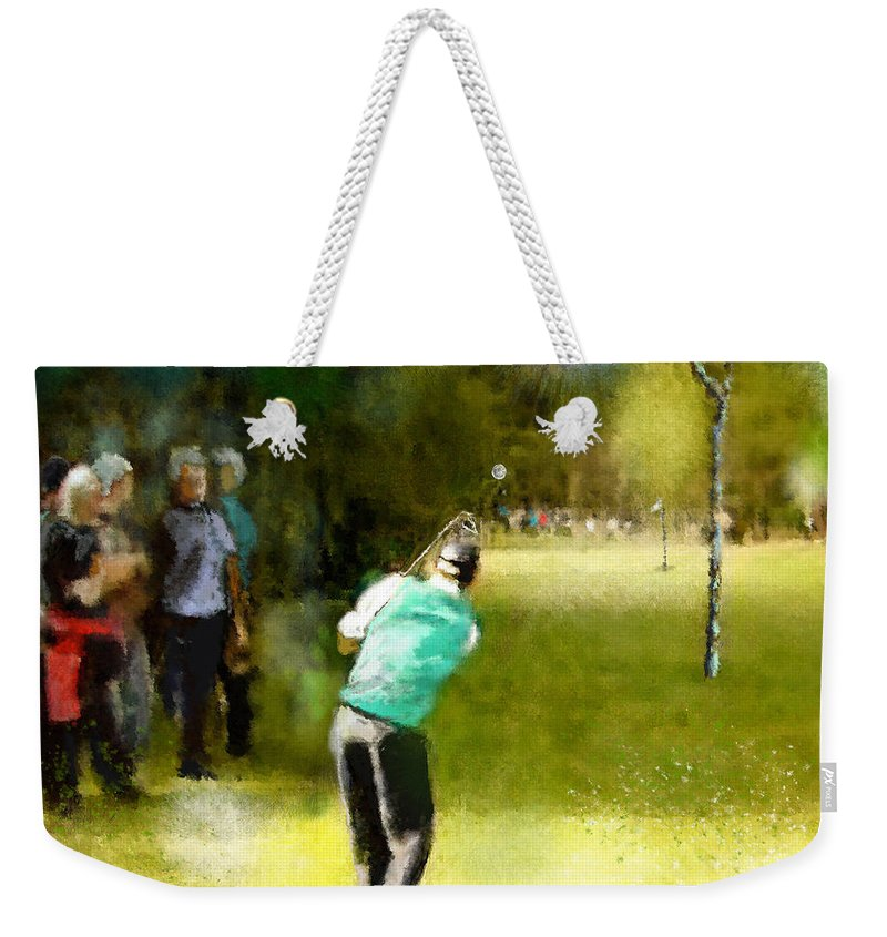 Golf Weekender Tote Bag featuring the painting Golf Vivendi Trophy In France 02 by Miki De Goodaboom