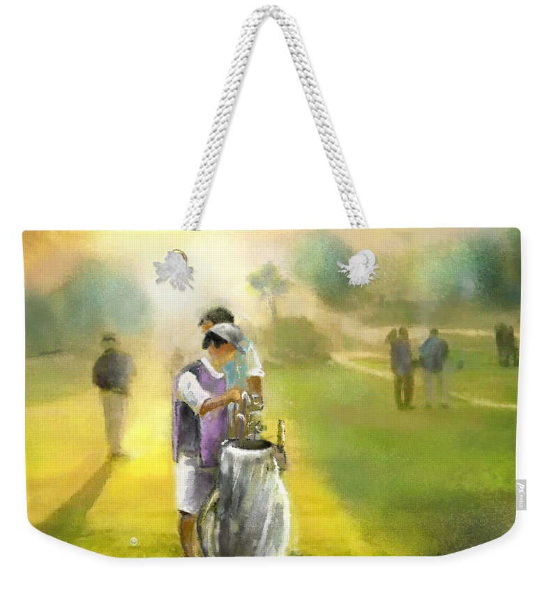 Golf Weekender Tote Bag featuring the painting Golf Vivendi Trophy In France 03 by Miki De Goodaboom