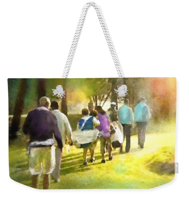 Golf Weekender Tote Bag featuring the painting Golf Vivendi Trophy In France 04 by Miki De Goodaboom