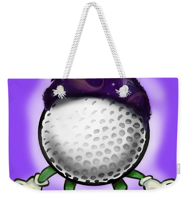Golf Weekender Tote Bag featuring the digital art Golf Wizard by Kevin Middleton