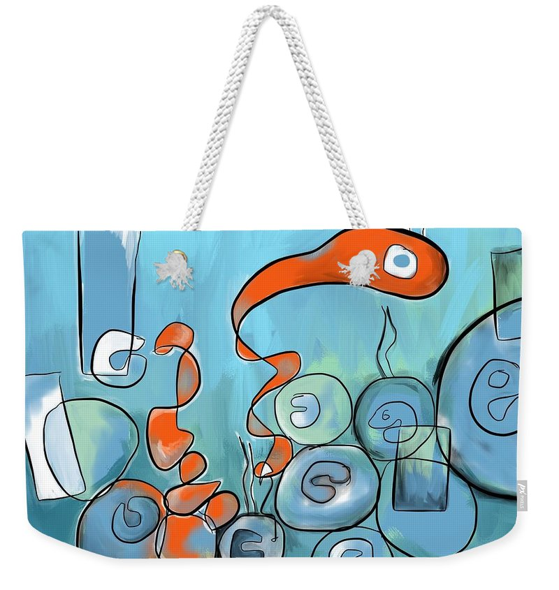 Hipster Weekender Tote Bag featuring the digital art Golfo Eggd by Jim Faris