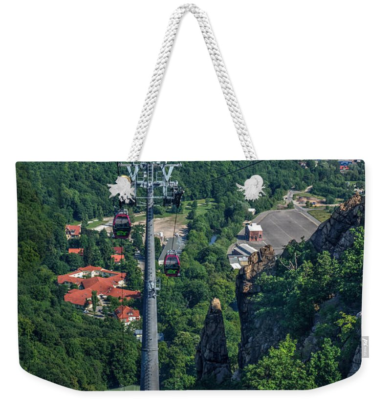 View Weekender Tote Bag featuring the photograph Gondola Hexentanzplatz by Mickey At Rawshutterbug