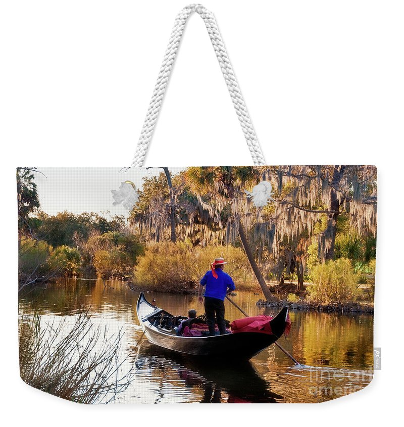 Gondola Weekender Tote Bag featuring the photograph Gondola In City Park Lagoon New Orleans by Kathleen K Parker