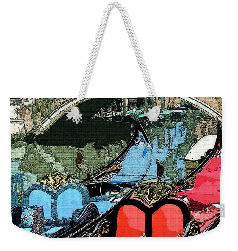 Gondola Weekender Tote Bag featuring the photograph Gondolas Fresco by Mindy Newman