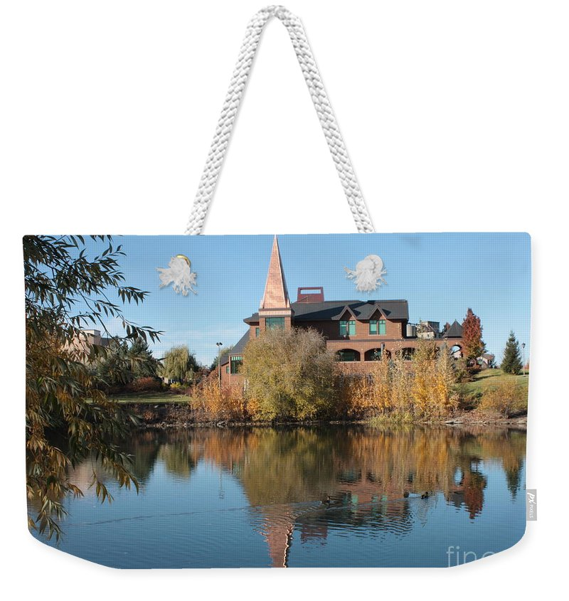 Washington Weekender Tote Bag featuring the photograph Gonzaga Art Building by Carol Groenen