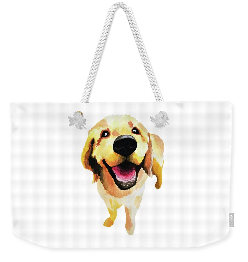 Dog Weekender Tote Bag featuring the painting Good Boy by Amy Giacomelli