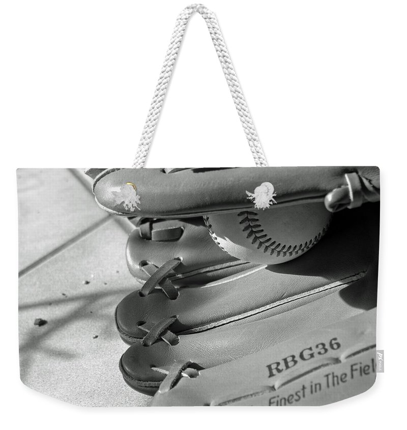 Baseball Weekender Tote Bag featuring the photograph Good Catch 2 by Adam Vance