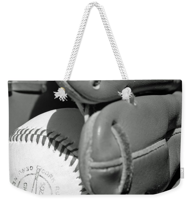 Baseball Weekender Tote Bag featuring the photograph Good Catch 3 by Adam Vance