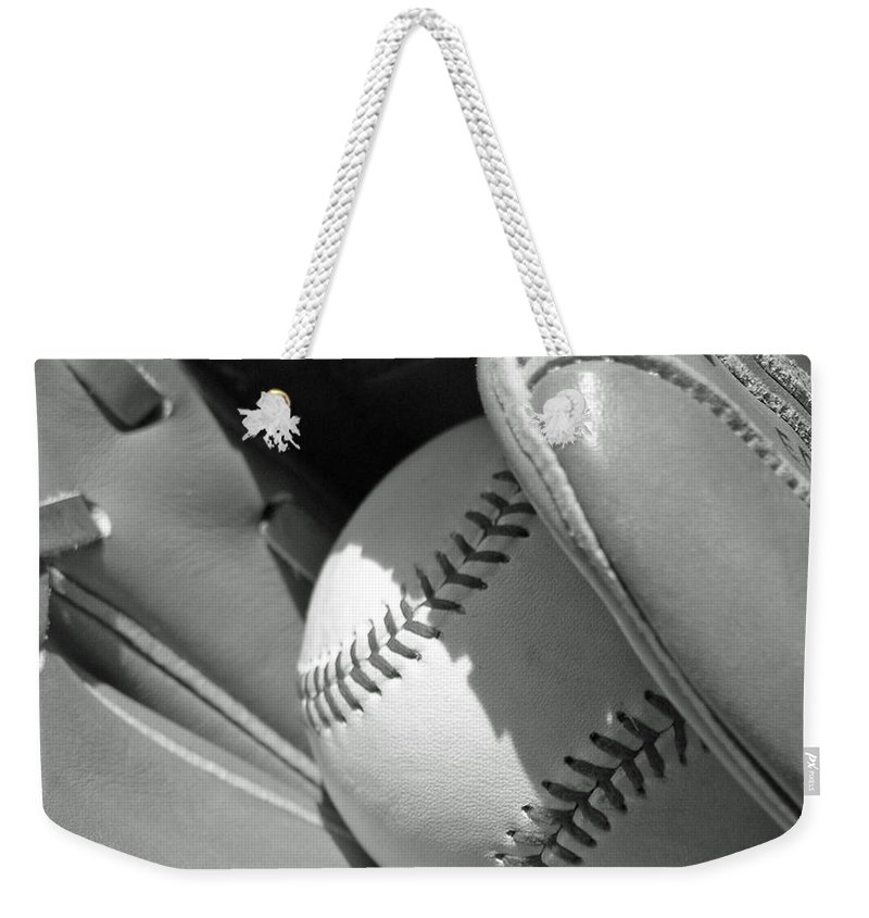 Baseball Weekender Tote Bag featuring the photograph Good Catch by Adam Vance