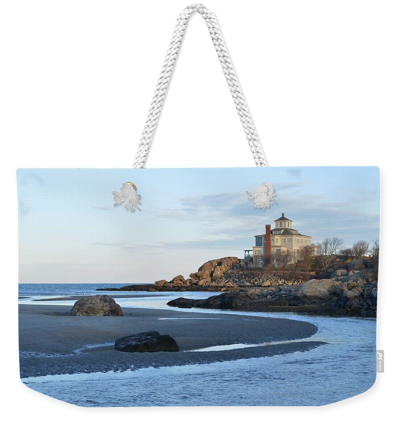 Good Harbor Weekender Tote Bag featuring the photograph Good Harbor Beach Mansion by Toby McGuire