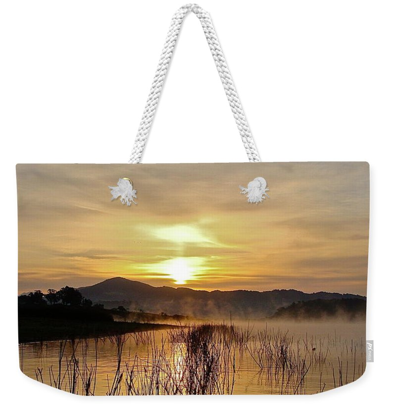 Water Weekender Tote Bag featuring the photograph Good Morning  God by Diana Hatcher