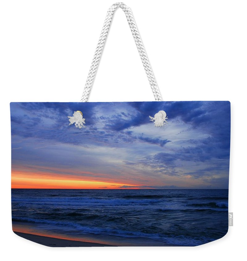 Jersey Shore Weekender Tote Bag featuring the photograph Good Morning - Jersey Shore by Angie Tirado