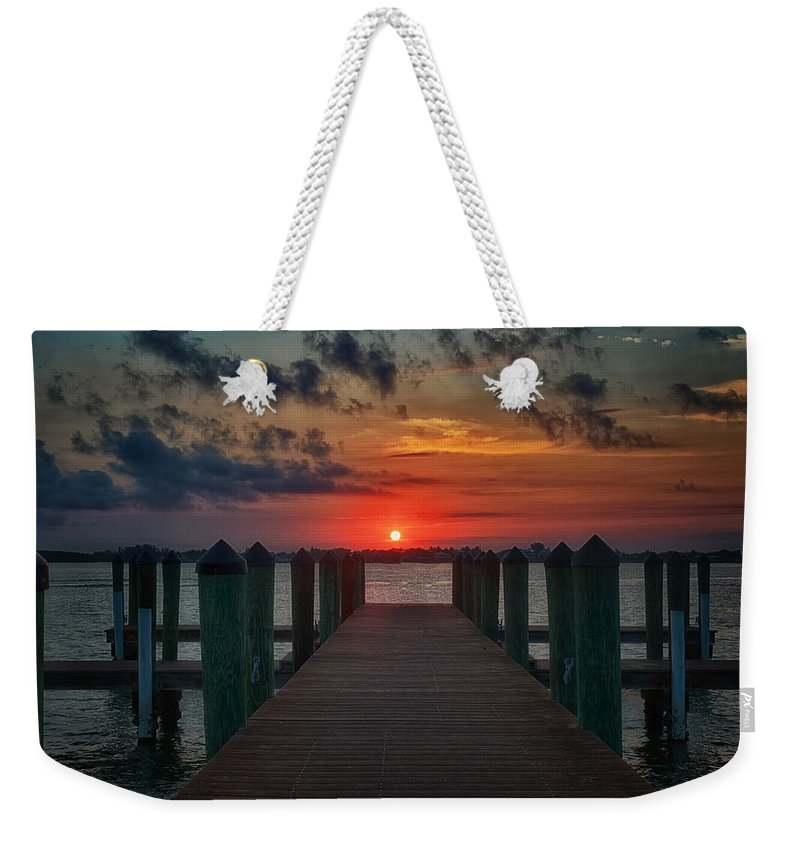 Pier Weekender Tote Bag featuring the photograph Good Morning Fort Myers by Kim Hojnacki