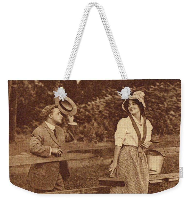 Postcard Weekender Tote Bag featuring the digital art Good Morning Glory by Colleen Cornelius