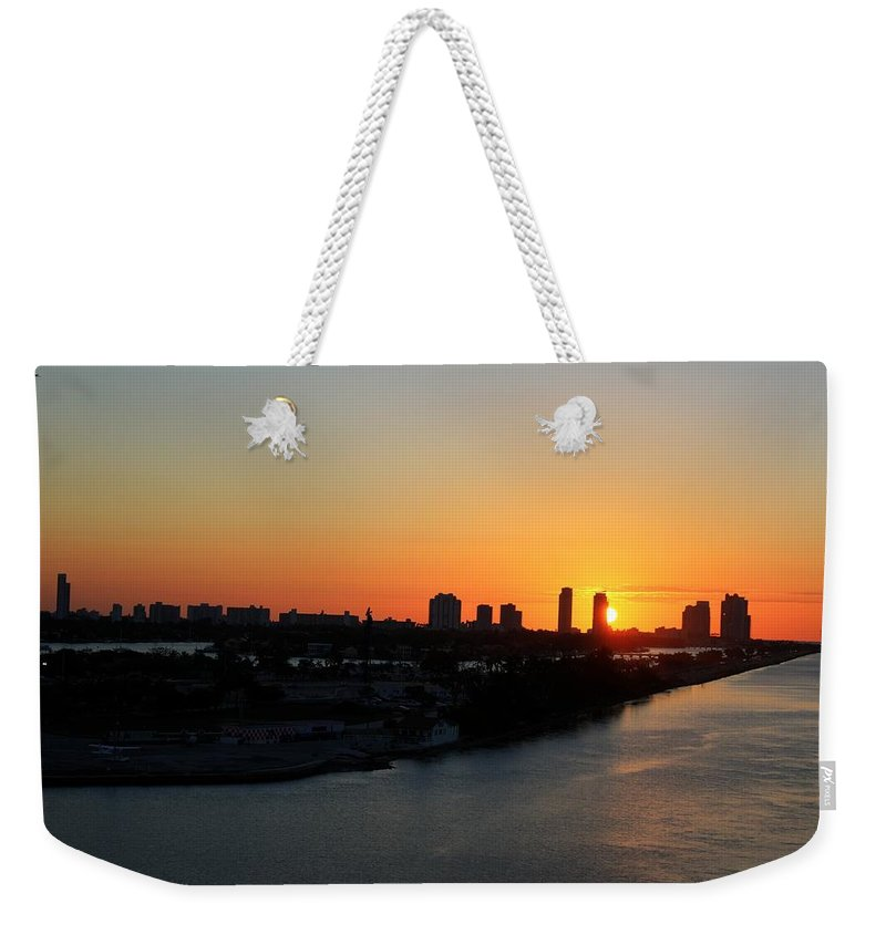 Miami Weekender Tote Bag featuring the photograph Good Morning Miami by Shelley Neff