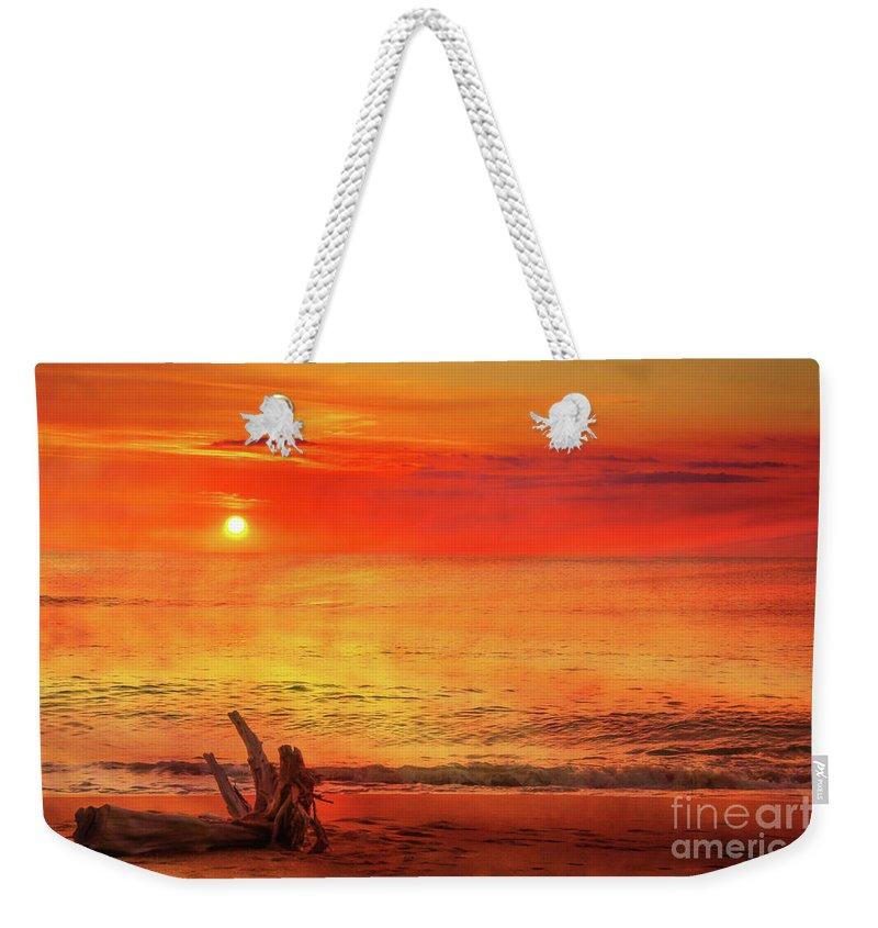 Goodbye Day Weekender Tote Bag featuring the digital art Goodbye Day by Randy Steele